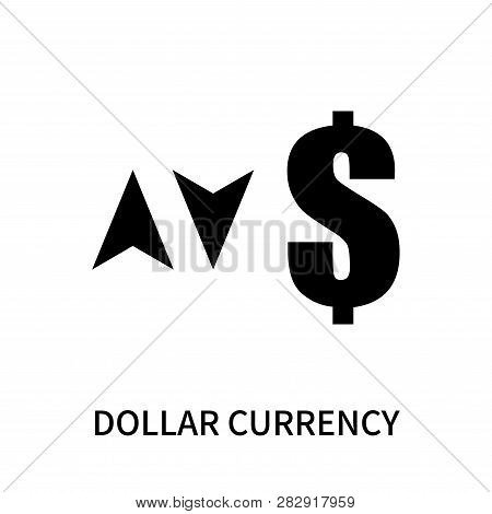 Dollar Currency Icon Isolated On White Background. Dollar Currency Icon Simple Sign. Dollar Currency