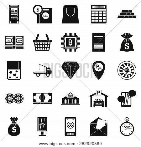 Hard Cash Icons Set. Simple Set Of 25 Hard Cash Icons For Web Isolated On White Background