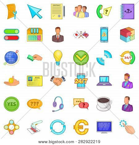 Wifi Icons Set. Cartoon Style Of 36 Wifi Icons For Web Isolated On White Background