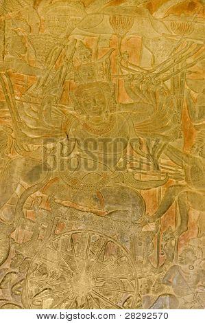 Yama, Hindu god of death carving