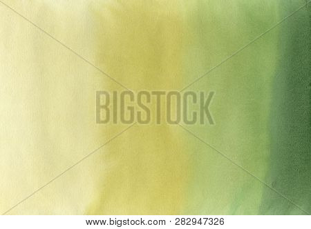 From Light To Dark Yellow Green Gradient Abstract Watercolor Background