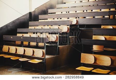 Empty Seats Of An Old Amphitheater