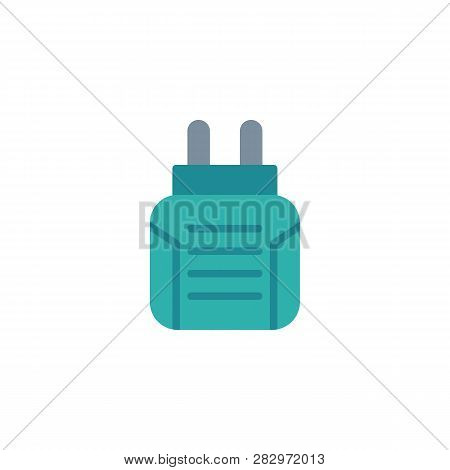 Insect Electric Fumigator Flat Icon, Vector Sign, Colorful Pictogram Isolated On White. Anti Mosquit