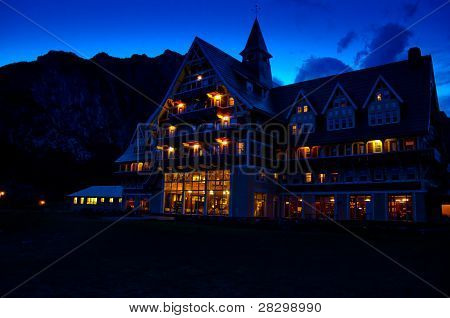Prince of Wales Hotel at night