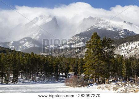 Winter Clouds Over Rocky Mountain National Park