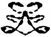 Rorschach Test. Ink blot for psychiatric evaluations. poster
