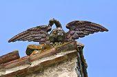 Close up of a marble statue. Gropparello Castle. Emilia-Romagna. Italy. poster