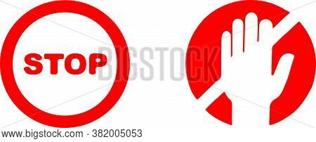 Stop Vector Illustration Isolated On Background , Stop, Stop Sign, Symbol, Threat