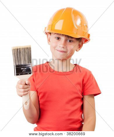 Cute Kid With A Paint Brush