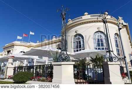 Deauville, Normandy, France - August 06 ,2020 : Brummel Is An Elegant Brasserie At Famous Barri Re C
