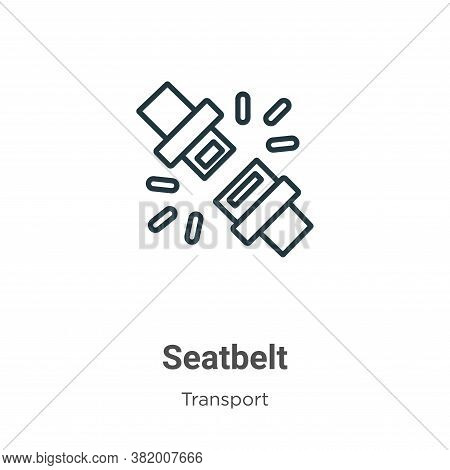 Seatbelt icon isolated on white background from transport collection. Seatbelt icon trendy and moder