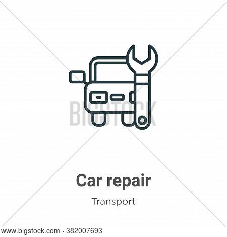 Car repair icon isolated on white background from transport collection. Car repair icon trendy and m