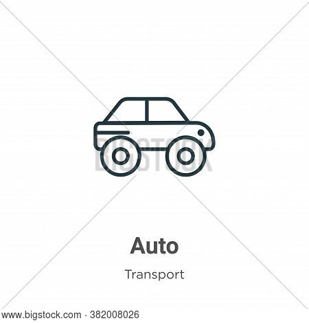 Auto icon isolated on white background from transport collection. Auto icon trendy and modern Auto s