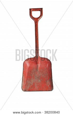 Vintage Toy Red Metal Sandbox Shovel