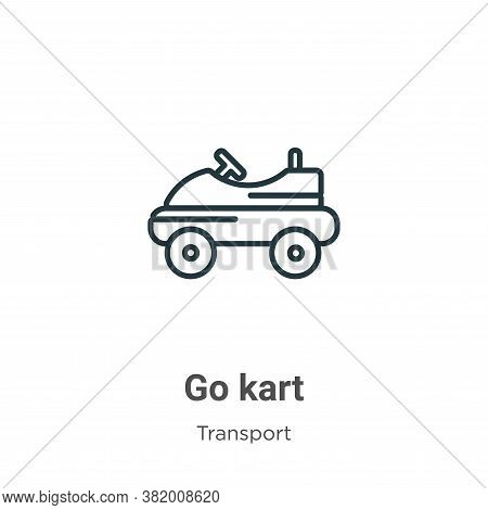 Go kart icon isolated on white background from transport collection. Go kart icon trendy and modern