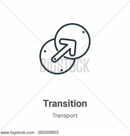 Transition icon isolated on white background from transport collection. Transition icon trendy and m
