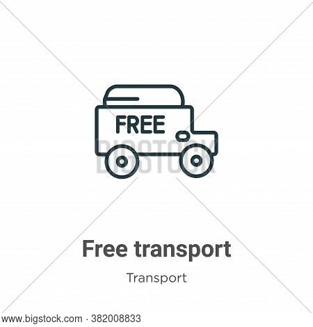Free transport icon isolated on white background from transport collection. Free transport icon tren