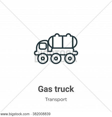 Gas truck icon isolated on white background from transport collection. Gas truck icon trendy and mod