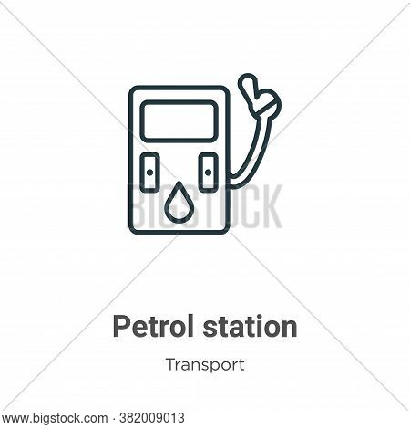 Petrol station icon isolated on white background from transport collection. Petrol station icon tren