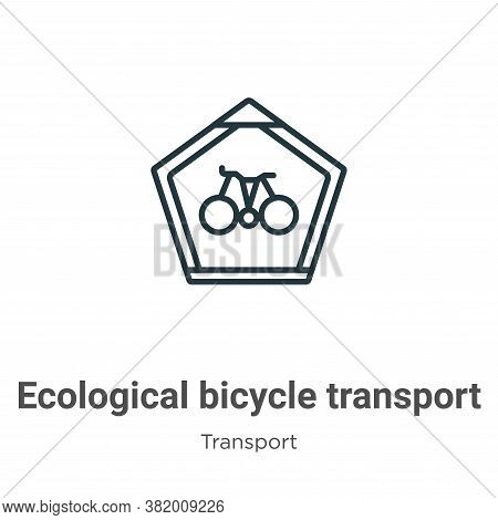 Ecological bicycle transport signal icon isolated on white background from transport collection. Eco