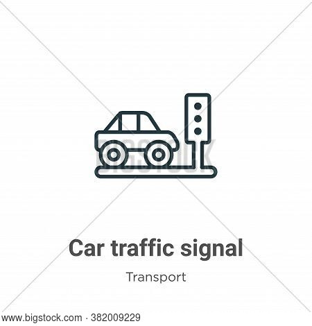 Car traffic signal icon isolated on white background from transport collection. Car traffic signal i