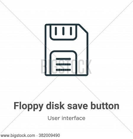 Floppy Disk Save Button Icon From User Interface Collection Isolated On White Background.