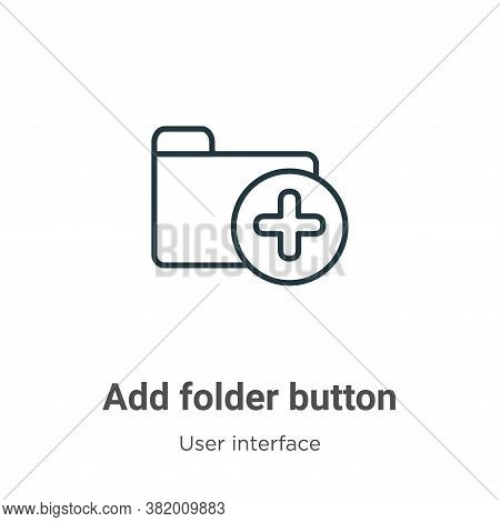 Add folder button icon isolated on white background from user interface collection. Add folder butto