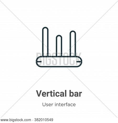 Vertical bar icon isolated on white background from user interface collection. Vertical bar icon tre