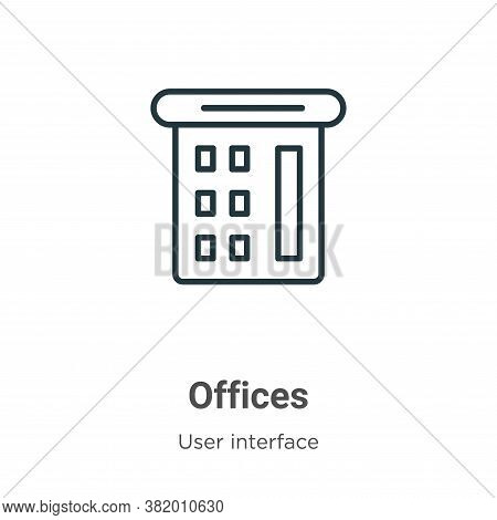 Offices icon isolated on white background from user interface collection. Offices icon trendy and mo