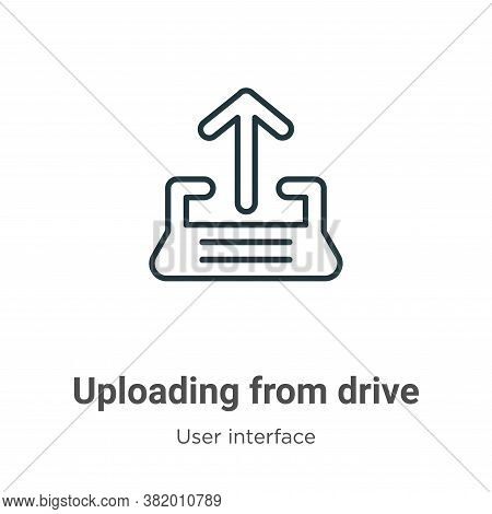 Uploading from drive icon isolated on white background from drive icon from drive icon from user int