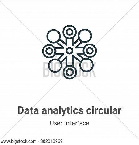 Data analytics circular icon isolated on white background from user interface collection. Data analy