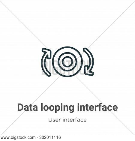 Data looping interface icon isolated on white background from user interface collection. Data loopin