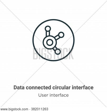 Data connected circular interface icon isolated on white background from user interface collection.