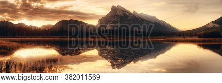 Vermillion Lake sunrise in Banff National Park in Canada