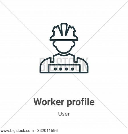 Worker profile icon isolated on white background from user collection. Worker profile icon trendy an