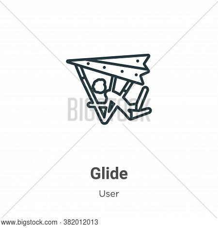 Glide Icon From User Collection Isolated On White Background.