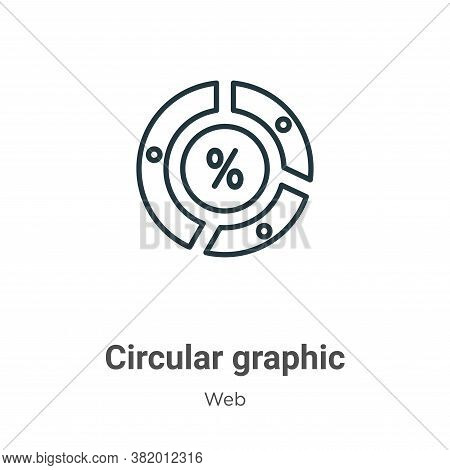 Circular graphic icon isolated on white background from web collection. Circular graphic icon trendy