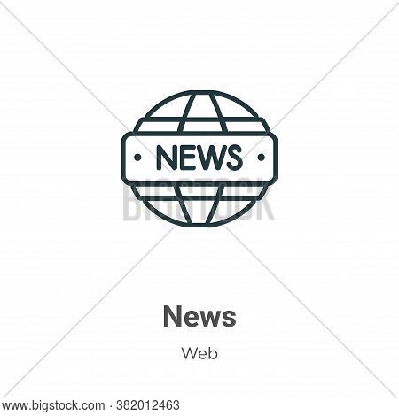 News logo icon isolated on white background from web collection. News logo icon trendy and modern Ne