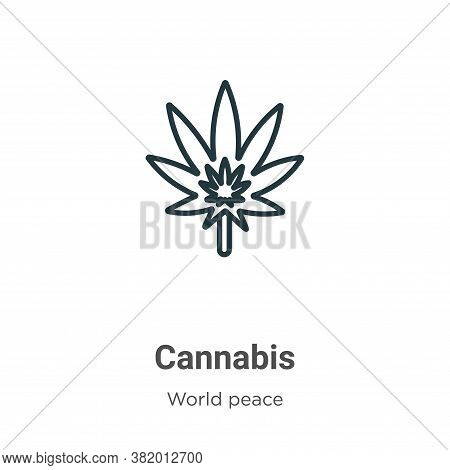 Cannabis icon isolated on white background from world peace collection. Cannabis icon trendy and mod