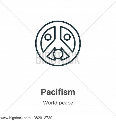 Pacifism icon isolated on white background from world peace collection. Pacifism icon trendy and mod