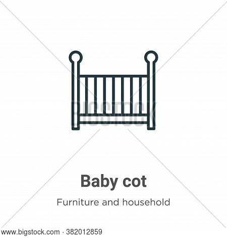 Baby cot icon isolated on white background from furniture and household collection. Baby cot icon tr