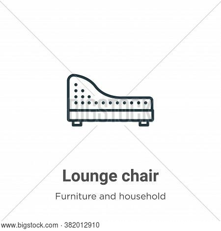Lounge chair icon isolated on white background from furniture and household collection. Lounge chair