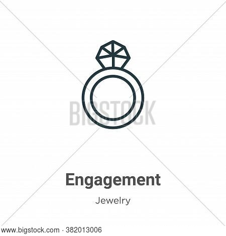 Engagement icon isolated on white background from jewelry collection. Engagement icon trendy and mod