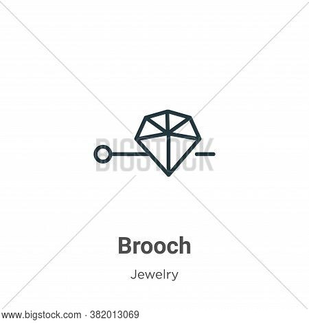 Brooch icon isolated on white background from jewelry collection. Brooch icon trendy and modern Broo