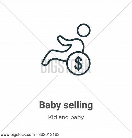 Baby selling icon isolated on white background from kid and baby collection. Baby selling icon trend