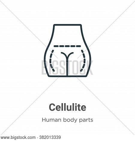 Cellulite icon isolated on white background from human body parts collection. Cellulite icon trendy