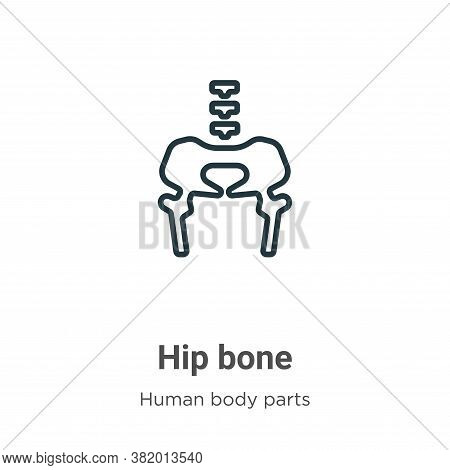 Hip bone icon isolated on white background from human body parts collection. Hip bone icon trendy an