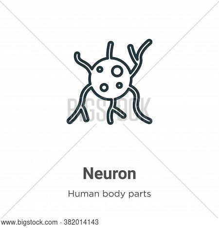Neuron icon isolated on white background from human body parts collection. Neuron icon trendy and mo