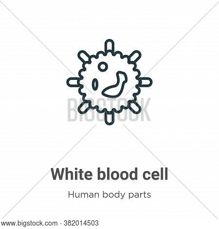 White blood cell icon isolated on white background from human body parts collection. White blood cel