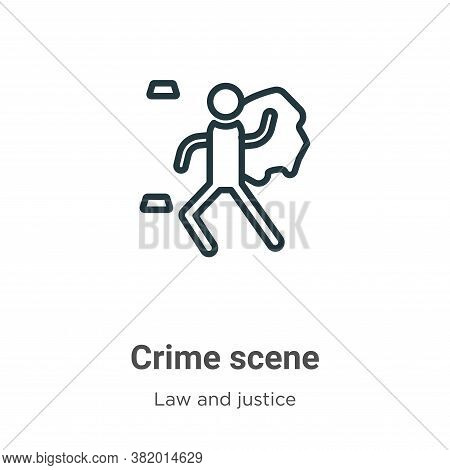 Crime scene icon isolated on white background from law and justice collection. Crime scene icon tren